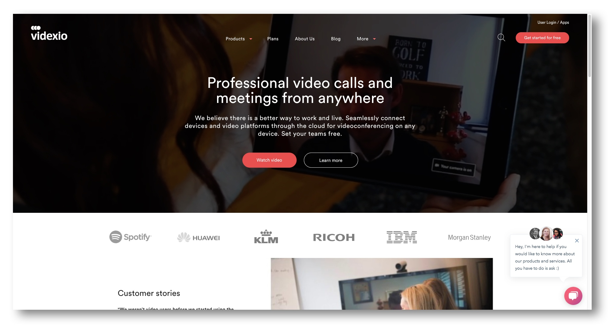 Videxio's new home page